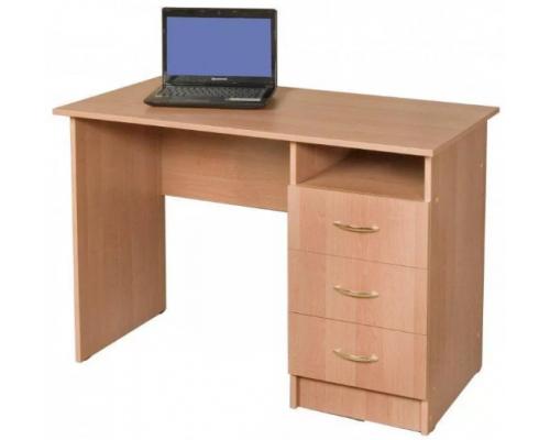 Стол компьютерный с ящиками и полкой