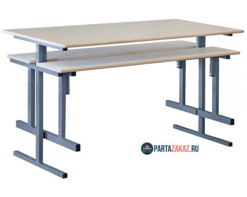 Стол обеденный для  столовой 4-х местный с пластиком
