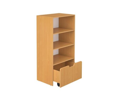Шкаф для игровых материалов 4-х ярусный открытый 50x47x132