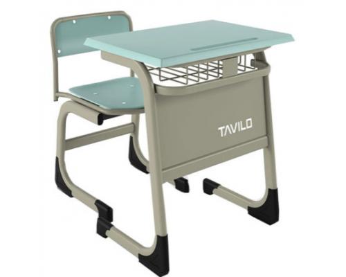 Комплект одноместная парта с полочкой  и стул