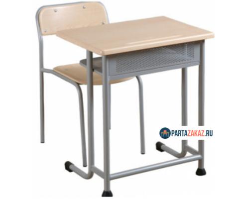 Комплект одноместная парта с перфорированным экраном и стул нерегулируемый