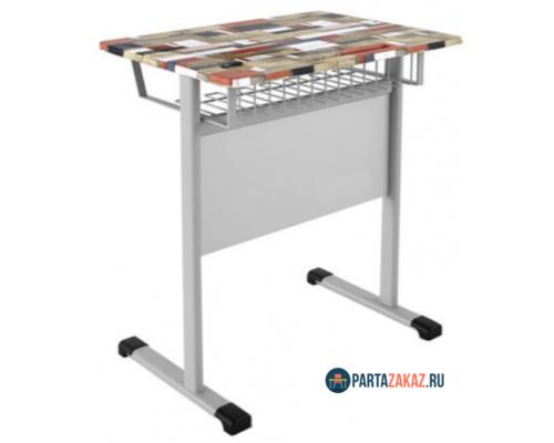 Комплект одноместная парта с полочкой и стул ударопрочное покрытие