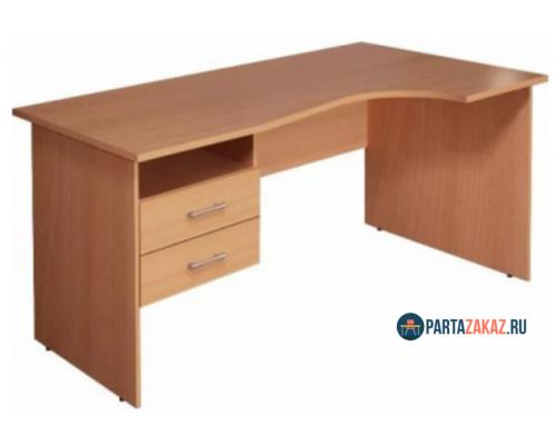 Стол офисный угловой с двумя ящиками